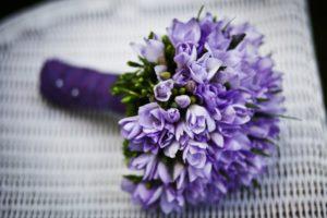 パープル花束